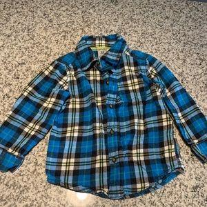 Carters boys blue flannel